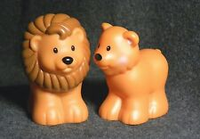 Fisher Price Little People Noah's Ark Animals Lion & Lioness Pair Free Shipping