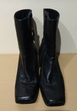 Ladies Real Leather Black Boots size 5