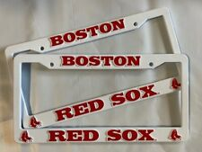 2 BOSTON RED SOX License Plate Frame NEW Auto Truck FREE SHIPPING