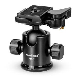koolehaoda Camera Tripod head Ballhead with quick release plate for DSLR camera