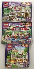 Lego Friends 41108 Heartlake Food Market 3061 City Park Cafe 41035 Juice Bar NEW