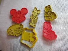 Winnie The Pooh & Friends Cookie Cutters, Piglet, Eeyore, Mickey Mouse, VINTAGE