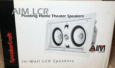 SpeakerCraft Aim Lcr 1 Pivoting Home Theater Speakers In-Wall Lcr Speakers New