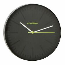 "Stylish Large Black Wall clock Case n Dial Quartz  ""The Aries Clock"" W7743B BNIB"
