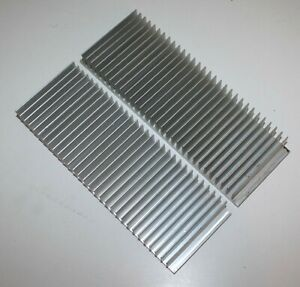 Two 30 Tooth Aluminum Heat Sinks -  33mm X 86mm X 250mm