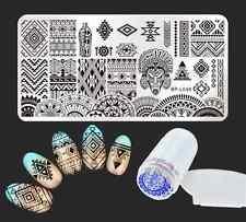 Ethnic Nail Art Stamping Plate Image Template Stamper Scraper Kit Born Pretty