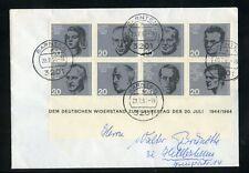 BUND Nr.431-438 FDC BARNTEN 20.7.1964 ME 100,- für BLOCK-FDC !!! (118230)