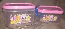 lot 2 petites boites plastique miss bunny ( pour denrée alimentaire) disney