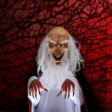Old Man Grandpa Face Cosplay Horror Scary Halloween Ghost Mask Latex Costume