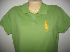 POLO BY RALPH LAUREN - BIG PONY &   #3 GREEN & YELLOW  POLO SHIRT - JUNIOR XXL