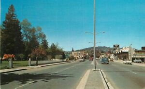 Automobiles Main Street Score Card Cloverdale California Postcard 21-2046