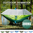 Double Person Hanging Hammock Bed Outdoor Travel Camping Tent w/ Mosquit uu u