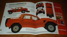 1987 Lamborghini Lm002 Spec Sheet Brochure Info Pamphlet 85 93 Rambo Lambo Fits Lamborghini Jalpa