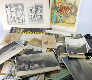 Job Lot of Antique and vintage photo, postcards and other old paper ephemera.B35