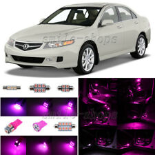 8pcs Pink/Purple LED Interior Light Package Fit For 2004-2008 Acura TSX