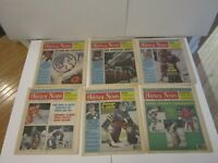 1986 Lot of 38 The Hockey News NHL Issues Gretzky Savard Keon ROY Stanley Cup