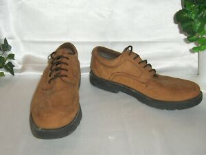 FALLS CREEK Mens Suede Leather Oxford Brown Rubber Soles Lace up Shoe Size 13M