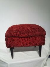 "Retro vintage Craft Knitting Sewing Box or stool with dansette legs H15"" W18.5"""