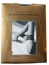 Victorias Secret Lace Top Thigh Highs Jet Black Large