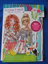 NEW Make it Real Art Model Fashion Design JUNGLE Stencils Stickers Sketchbook
