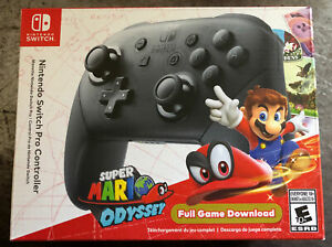 Nintendo Switch Pro Controller with Super Mario Odyssey digital Full Game