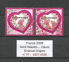 FRANCE 2009...HEARTS...Saint-Valentin...EMANUEL UNGARO...YT 4327-28...MNH