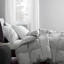1200 Count 100% Cotton Ultra Soft Silver / Light Gray Solid 400 GSM Comforter