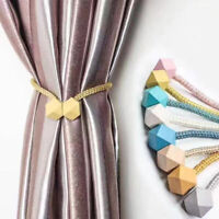 Nordic Multifaceted Ball Magnetic Window Curtains Tie-Backs Buckles Strap Holder
