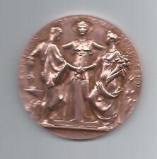 BRUSSEL 1897 INTERNATIONAL EXPOSTION BELGIAN ART / BRONZE MEDAL by ROTY / M50