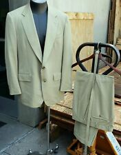 Carroll & Co Chester Barrie Wool Coat Blazer Suit Jacket Dress Pants 43 R Green