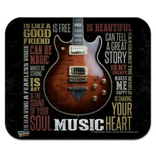 Music Is Beautiful Guitar Inspiriational Low Profile Thin Mouse Pad Mousepad