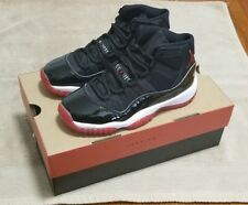 Nike Air Jordan 11 Bred Retro XI (GS) Red Black White Size 4.5 Youth 378038 061