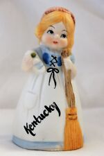 Kentucky Bell Girl with Broom Ceramic Vintage