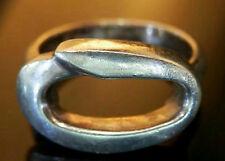 Very Cool Signed GRE ART Sterling Modernist Size 61/2 Vintage 70's Ring 411JL6