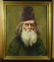 Painting Xixth Dignitary Religious Catholic Orthodox or Jew Jewish? Paint
