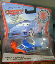 DISNEY CARS SILVER RACER SERIES RAOUL CAROULE W/ METALLIC FINISH  *NEW*