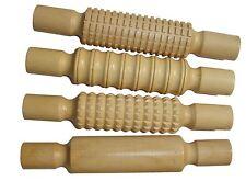 4 in legno con motivo ruvido Rolling Pin Set di argilla, SCULPEY, impasto, Pasticceria