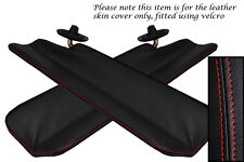 RED STITCH FITS MAZDA MX5 MK1 MIATA 89-97 2X SPLIT FOLDING SUN VISOR COVERS