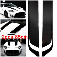 2x Black Racing Sports Vinyl Stripe Decal Car Hood Graphics Sticker for All Cars