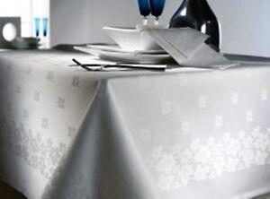 HOTEL QUALITY WHITE SUPERIOR FINISHED 100% COTTON DAMASK IVYLEAF TABLE CLOTHS