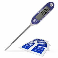 DeltaTrak FlashCheck Thermometer Bundle Auto-Cal Needle Tip Probe & Alcohol Pads