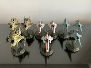 Battlestar Galactica Starship Battles Colonial Vipers & Raptors (models only)