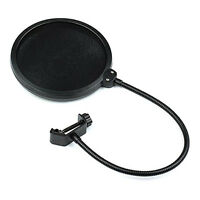 Double Layer Studio Microphone Mic Wind Screen Mask Gooseneck Shied Pop Filter O