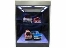 Large Display Case with LED Lights and Turntable in Silver (1:18 scale by Triple