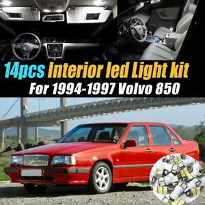 14Pc Super White Car Interior LED Light Bulb Kit for 1994-1997 Volvo 850