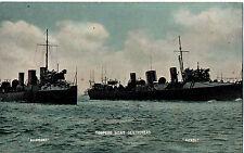 "WW1""Torpedo Boat Destroyers,HMS Bullfinch & HMS Petrel"", Millar & Lang, Postcard"