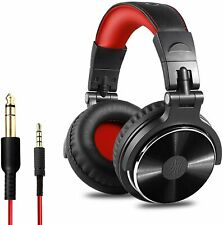 OneOdio Over Ear Studio DJ Headphones,Wired Headset 50mm Driver - Red