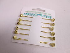 Ensemble de 12-Oasis diamond gold pins avec une tête claire clips cheveux de mariage # 25b136