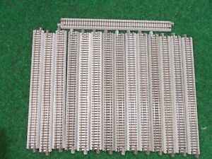 Kato N Uni-Track S248 Long Straight Sections, 15 pieces, lot A