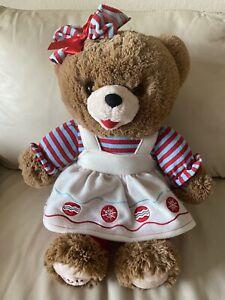 "Dan Dee  20"" Christmas Snowflake Girl Teddy Bear 2016 EUC"